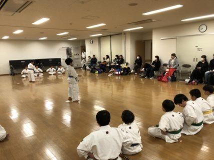 2020年1月29日(水)少年部 内部基本稽古試合開催